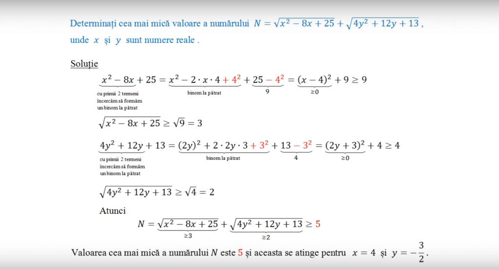 Exemplu de subiect din zona continut matematic gratuit 5-8, subiect de videoclip.