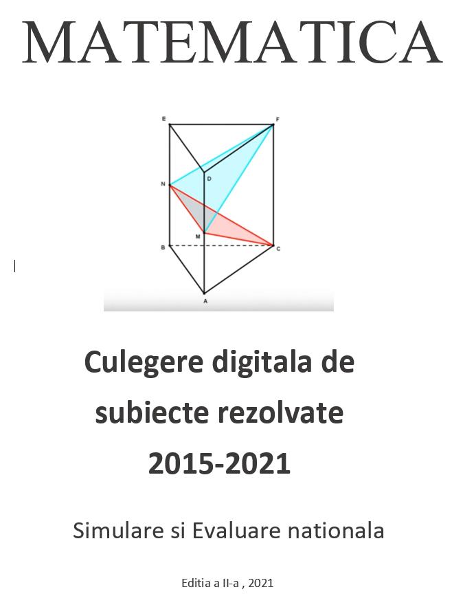 Culegere digitala de matematica pentru Simulare si Evaluare nationala